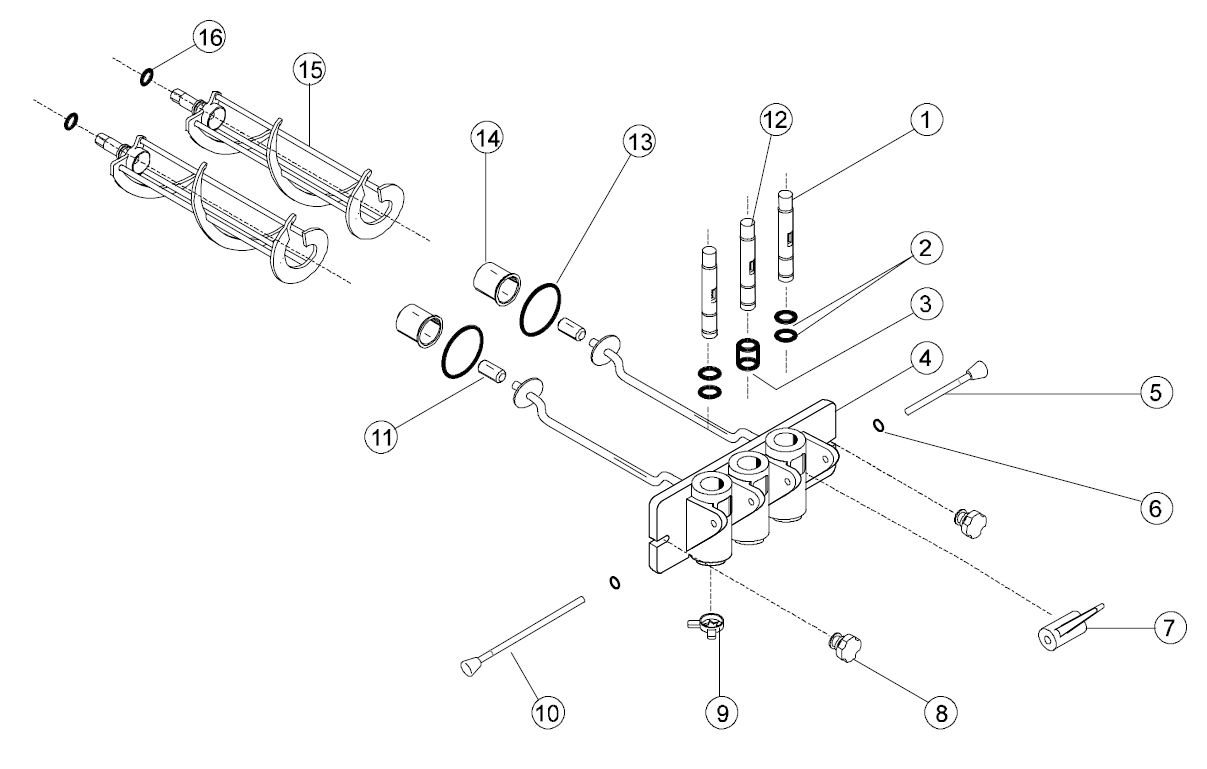 Taylor 161, 162 and 168 Diagram of Parts