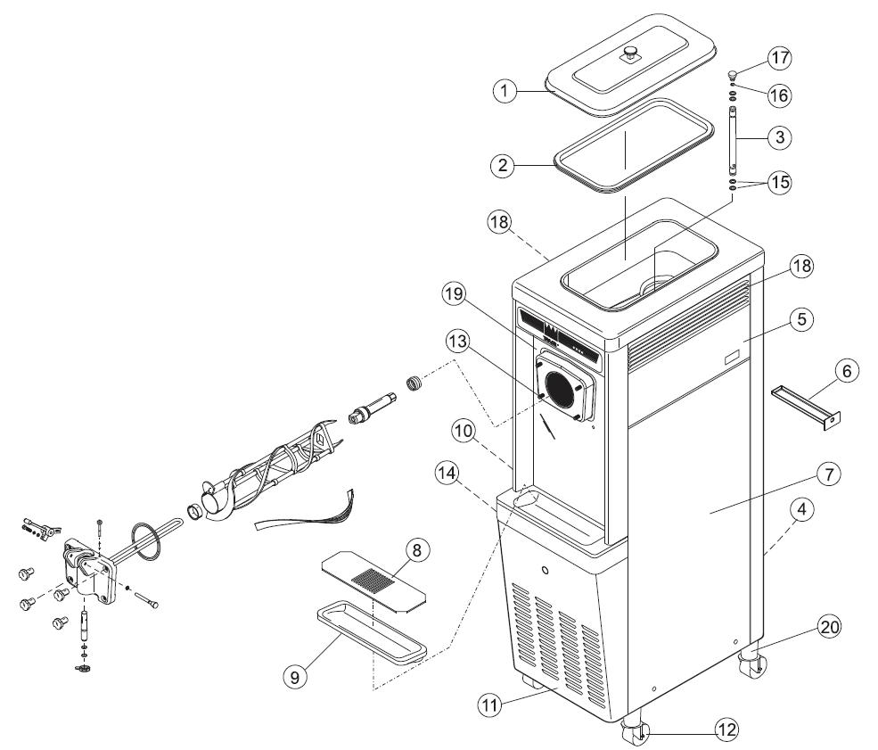 Taylor Freezer Diagram Great Installation Of Wiring Gas Refrigerator Schematic 751 Exploded Parts Views Rh Softserveparts Com Basic