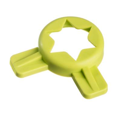 Parts - C707 - Soft Serve Parts LLC - 014218 Green 6 pt. Star Cap