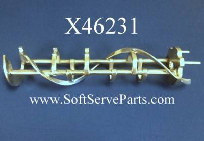 Beater Assemblies - Taylor  - X46231 Refurbished 3.4 Qt. 1 Pin Beater, for pressurized Ice Cream Machines models 8754, 8756, 8757, C7...