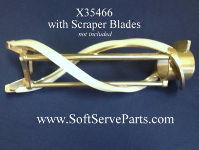 """Taylor  - X35466 Beater, Original style non reinforced, For use with 13 1/4"""" scraper blade. - Image 3"""