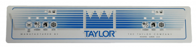 Decals - 161 - Taylor  - 055511 Upper Decal for Taylor Model 161
