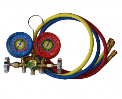Compressors - C712 - Soft Serve Refrigeration Manifold Gauges | Ice Cream Refrigerant Gauge Set