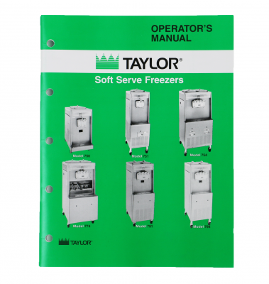 Parts - 750 - Taylor  - Taylor Operators Manual Paper Copy | Models 750,  751, 754, 774, 791 and 794