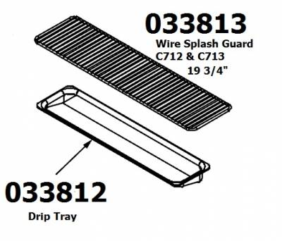 "Taylor  - 033813 Wire Splash Guard 19 3/4"" - Image 2"